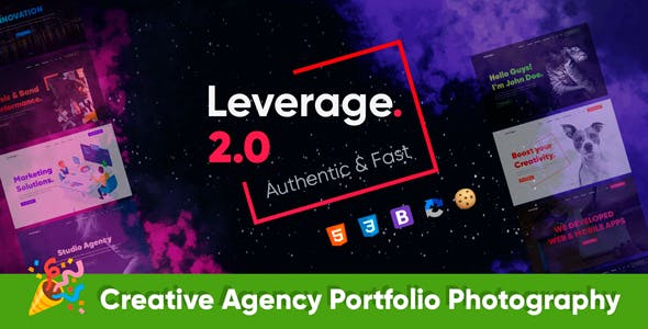 Leverage - Agency Bootstrap HTML Template