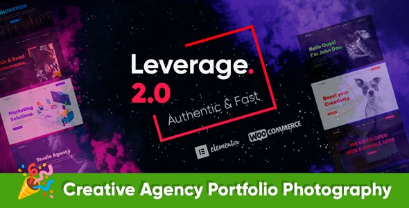 Leverage v2.1.3 – Creative Agency & Portfolio WordPress Theme
