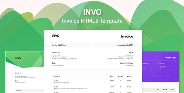 INVO - Invoice HTML5 Template - Miscellaneous Site Templates