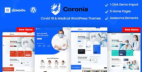 Coronia - Covid 19 & Medical  WordPress Themes