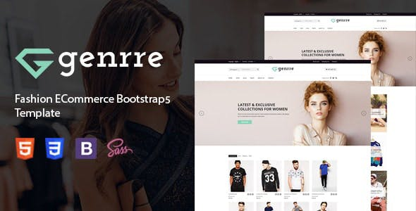 Genrre - Fashion Store HTML Template using Bootstrap 5