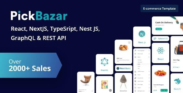PickBazar - React  Ecommerce Template with React Hooks, Next JS, GraphQL & REST API