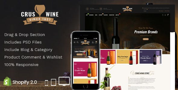 Cruswine - Sectioned Shopify Theme