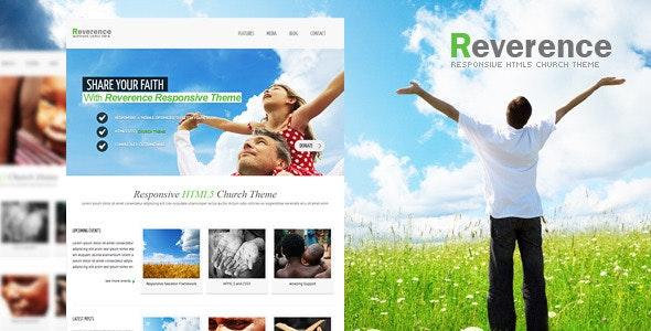 Reverence - Church Responsive HTML 5 Theme - Churches Nonprofit