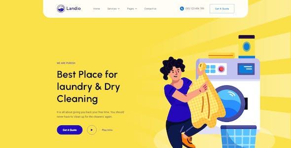 Landio- Laundry Services Adobe XD Template