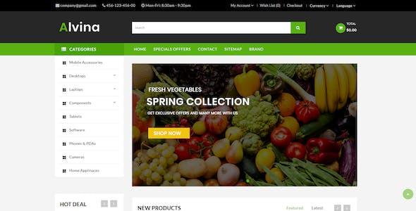Alvina Organic OpenCart 3.x Theme