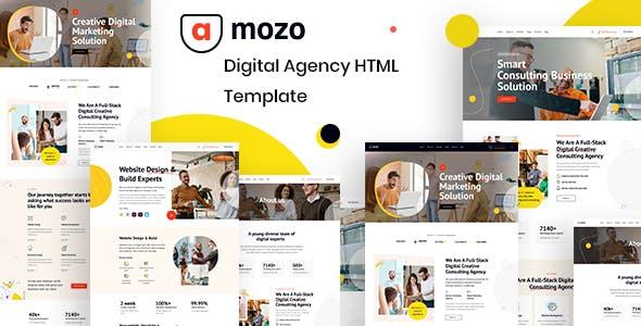 Amozo - Digital Agency HTML Template