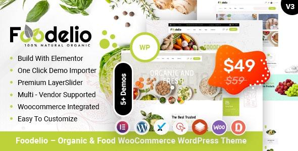 Foodelio – Organic & Food WooCommerce Multivendor WordPress Theme - Food Retail