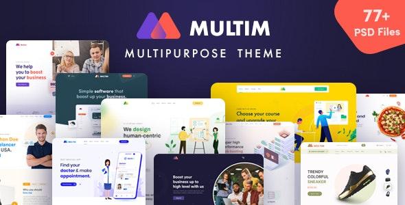 Multim - Multi-Purpose PSD Template - Business Corporate