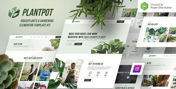 Plantpot – Houseplants & Gardening Elementor Template Kit