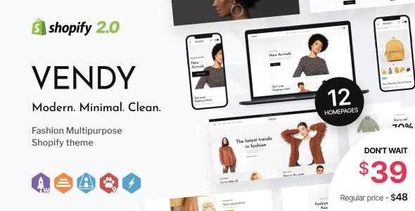 Vendy - Multipurpose Shopify Theme for Fashion - Fashion Shopify