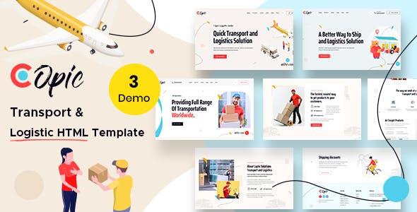 Copic – Logistics HTML Template