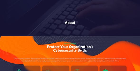 CyberSP - Cyber Security Services Elementor Template Kit