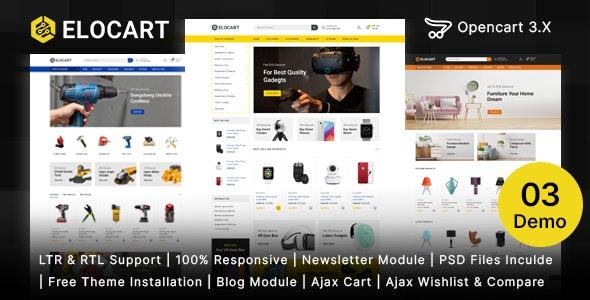 Elocart - Electronics & Tools & Furniture Store OpenCart 3 Responsive Theme - Technology OpenCart