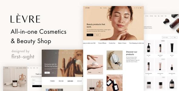Levre — Cosmetics Beauty Shop Theme - WooCommerce eCommerce
