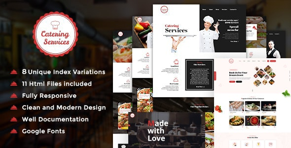 Restaurant and Catering HTML Template - Restaurants & Cafes Entertainment