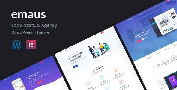 Emaus v1.3.4 – SaaS App and Startup Elementor WordPress Theme