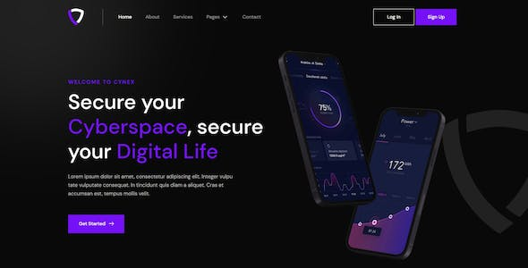 Cynex - Cyber Security Services Company Elementor Template Kit
