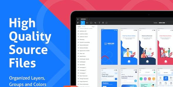 MEDCURE | Medical App UI Kit for Figma