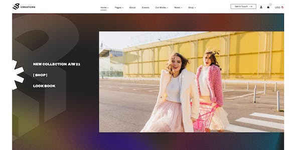 UpCreators – Creative Agency Template for Photoshop