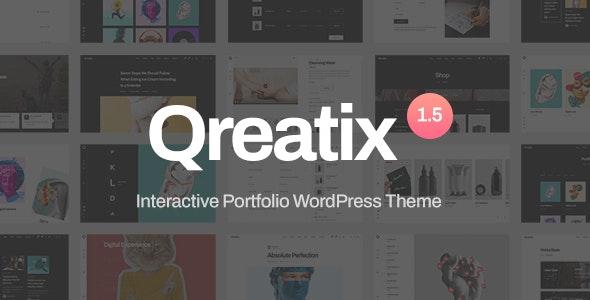 Qreatix v1.5.4 – Interactive Portfolio WordPress Theme