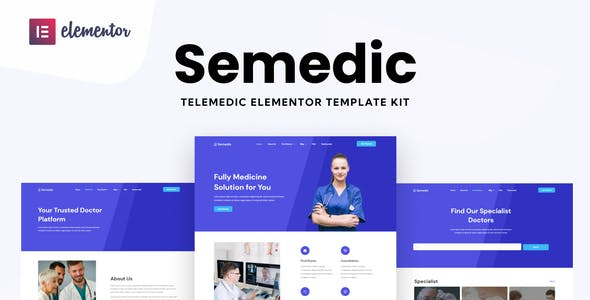 Semedic - Doctor Telehealth Elementor Template Kit