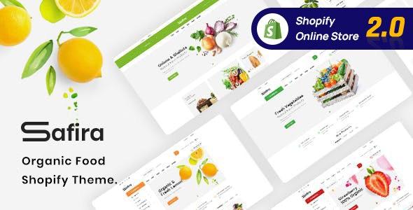 Safira – Organic Food Shopify Theme - Health & Beauty Shopify