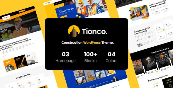 Tionco - Construction WordPress Theme