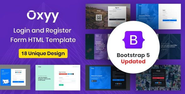 Oxyy - Login and Register Form HTML Templates - Miscellaneous Specialty Pages
