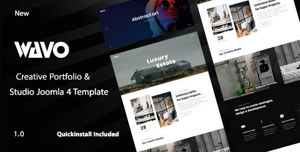 Wavo - Creative Portfolio & Agency Joomla 4 Template - Portfolio Creative