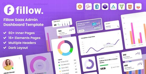 Fillow Saas Admin Dashboard Template - Admin Templates Site Templates