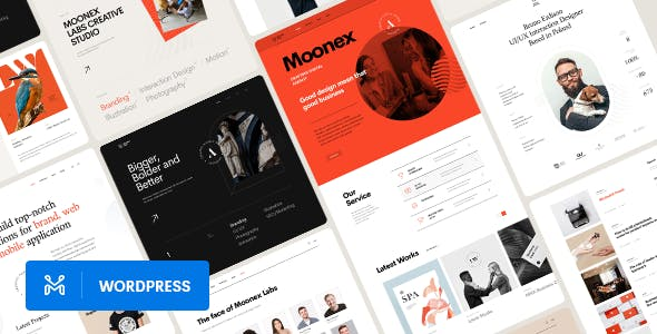 Moonex - Agency & Portfolio WordPress Theme