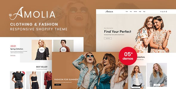 Amolia - Clothing & Fashion Responsive Shopify Theme
