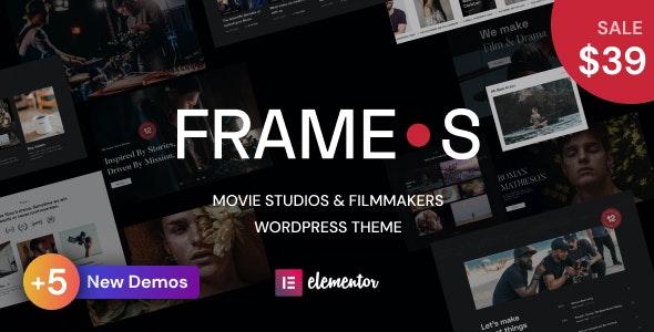Frames - Movie Studios & Filmmakers WordPress theme - Creative WordPress