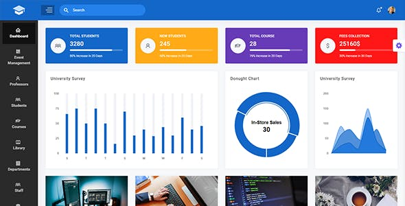 EduMin - Education Admin Dashboard Template
