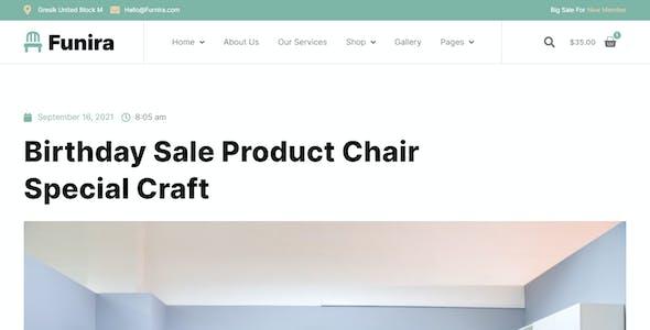 Funira - Furniture Shop & Custom Craft Elementor Template Kit