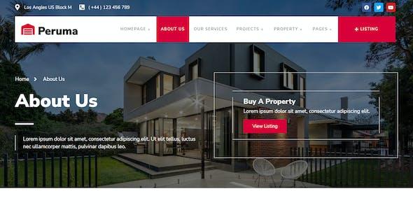 Peruma - Real Estate & Property Listing Elementor Template Kit
