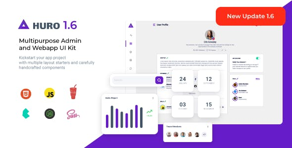 Huro - Multipurpose Admin and Webapp UI Kit