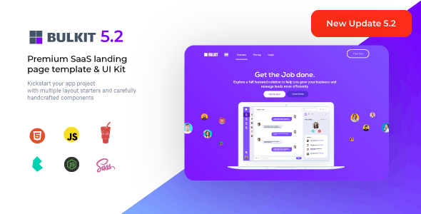 Bulkit - Saas Landing Pages - Software Technology