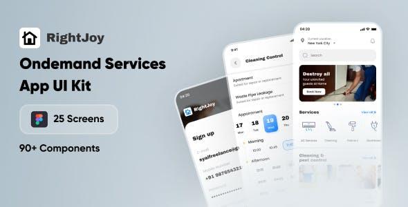 RightJoy - Service Booking UI Kit
