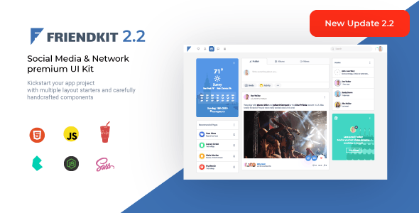 Friendkit - Social Media UI Kit