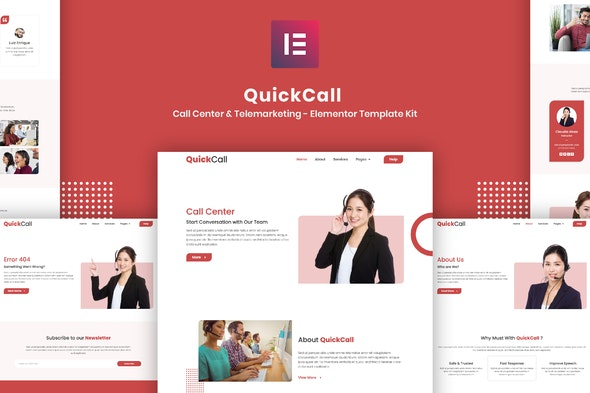 Quick Call - Call Center Elementor Template Kit - Business & Services Elementor