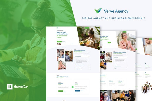Verve - Creative & Business Elementor Template Kit - Business & Services Elementor