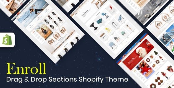 Enroll - Multipurpose Responsive Shopify Theme (Sections Ready)