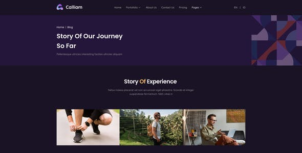 Calliam - Creative CV Elementor Template Kit