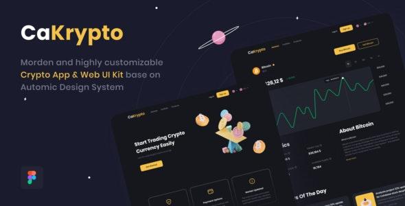 CaKrypto - Crypto App & Web UI Kit - Business Corporate