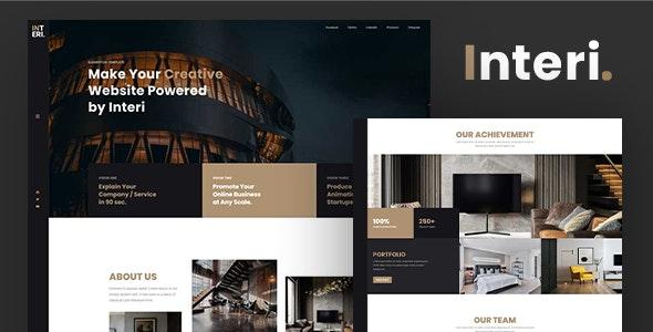Interi - Creative Interior HTML Template - Creative Site Templates