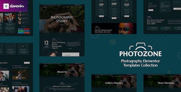 Photozone – Photography Elementor Template Kit