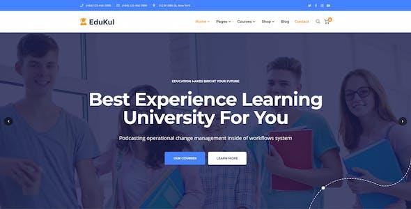 Edukul - Online Learning & Education Template Kit