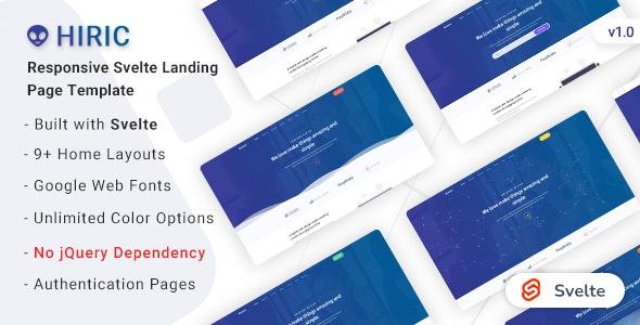 Hiric - Svelte Landing Page Template - Corporate Site Templates